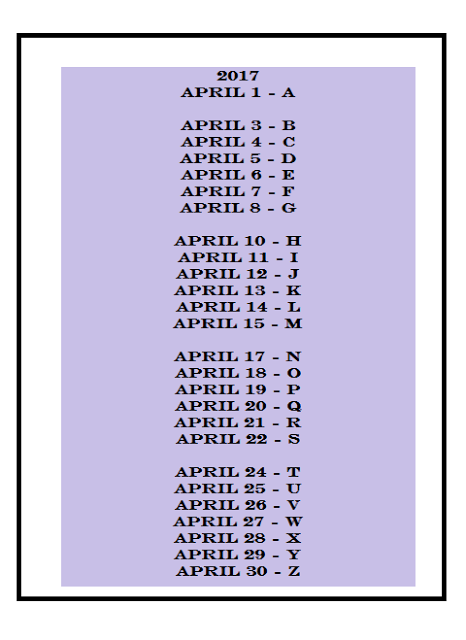 Letter dates rev